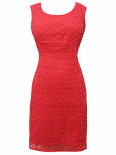 Pepperberry Coral Red Cotton Broderie Anglaise Dress Sizes 8 - 18 CV, RC, SC