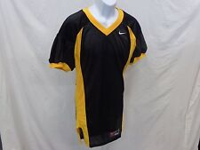 College Authentic Blank Football Jersey Black Gold Trim and Sides Pro Cut