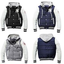 New Fashion Men's Casual Slim Fit Baseball Cardigan Hoodies Jacket Coats S-3XL