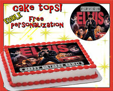 Elvis Presley Happy Birthday cake edible sugar topper sheet paper image picture