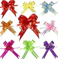 FD901 Pull Bow Gift Wrap Bow Weddings Special Occasion Gold Ribbons Strip 10pcs: