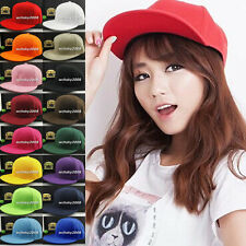 Hip-Hop Plain Baseball Cap Curved Visor Solid Blank Color Snapback Caps Hat Hats