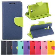 Deluxe Wallet Leather Flip + Tpu Skin Case Cover Stand For Sony Xperia SP M35h