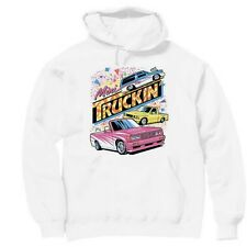 Pullover Hooded Transportation Sweatshirt Mini Truckin' Truck Trucks