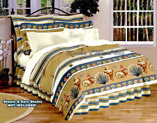 SEASHELL Beige Comforter Set TROPICAL BEACH COASTAL Twin Full Queen King Sizes