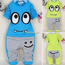 Baby Girls Boys Winter Fleece Hoodie+Pants Set Suit Coat Jacket Snowsuit Outfit