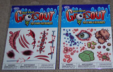 Grossout Tattoos,temporary tattoos,slash & gash,mutant,Made in USA,Easter gift