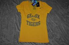 Nike LSU Geaux Tigers Womens Slim Fit V-Neck T-Shirt Gold See Sizes NWT