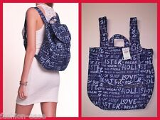 HOLLISTER BY ABERCROMBIE & FITCH WOMEN'S 2014/15 CLASSIC BACKPACK TOTE BAGS