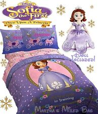 DISNEY SOFIA The FIRST Princess Girls Purple 9-11pc Twin/Full Size Comforter Set