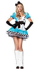 Sexy Charming Alice in the Wonderland Costume Blue Maid Fancy Dress