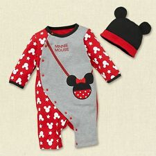 2 in1 baby boy girl clothes romper+hat sets outfits christmas gift for 6-24M R34