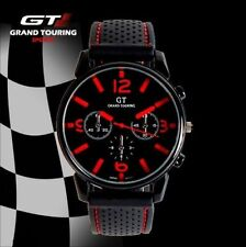 MENS BOYS STAINLESS STEEL QUARTZ SPORTS WRIST WATCH RACING TOURING WATCHES GT