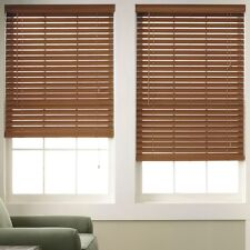 "Wood Window Blinds 2"" Slats - Pine Color - Free Shipping"