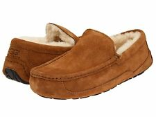 NEW - Ugg Men's Ascot Chestnut Suede Slippers - 5775-CHE