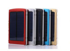Solar Power Dual/2 USB 10000mAh Portable Charger Backup Battery for Cellphone