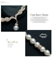 NEW Luxury Pearl Jewel Jewelry Necklace Earring Set Chain Wedding Banquet Gift