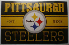 Pittsburgh Steelers NFL Decal Sticker Vintage Banner Football Logo Licensed