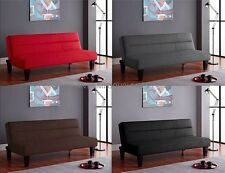 Futon Sofa Bed Living Room Furniture Loveseat Microfiber Couch CHOOSE COLOR NEW