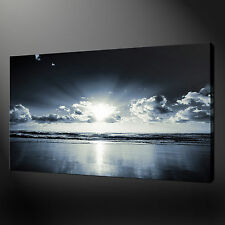 BLUE SEA CANVAS WALL ART PICTURES PRINTS VARIETY OF SIZES FREE UK P&P