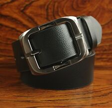Mens Classic Vintage Cow Leather Belt Cowhide Dress Waistband Pin Buckle Belts