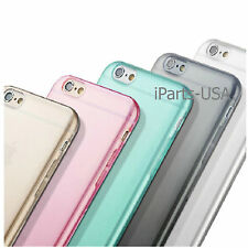 Silicone Transparent Clear Soft Case for Apple iPhone 6  + Free Screen Protector