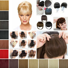 Front fringe Bangs FASHION straight/curly Red/Black/brown clip in hair extension