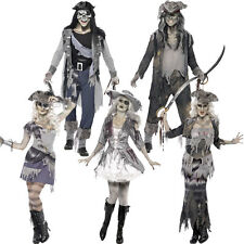Ghost Zombie Pirate Halloween Fancy Dress Costume - Haunted Dead Mens / Ladies