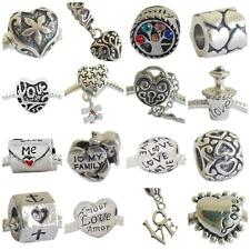 FAMILY LOVE & HEART CHARMS TO PERSONALISE CHARM BRACELET 23 DESIGNS BUY4=1 FREE
