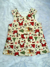 Girls Christmas Pinafore Dress Handmade 2-3 years various designs