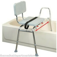 Eagle Health Snap-N-Save Sliding Transfer Bench w/Padded Seat, 37561,37581,37591