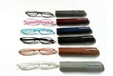 SLIMLINE Tube Plastic Readers Lightweight with Clip-On Case