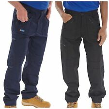 Mens Click 7 Zip Action Work Trouser with Knee-Pad Pocket Inserts Black