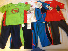 NWT Puma Baby Boys Toddler and Infant 2 -Piece set Tee and Pants Sz 12M 18M 24M