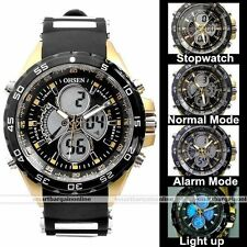OHSEN Military Analog LCD Digital Dual Day-Date Rubber Stopwatch Sport Watch