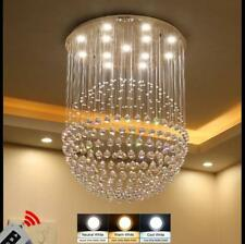 Modern Clear Crystal Flush mount Chandelier Ceiling Lights Lightings 110-240V