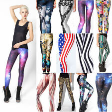 Lady's Graffiti Printed Leggings Gothic Punk European Skinny Jeans Pencil Pants