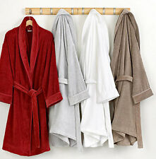 BATH ROBE NIGHTWEAR DRESSING GOWN WITH BELT MENS LADIES COTTON POLYESTER FLEECE