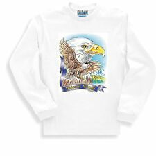 Patriotic Sweatshirt American Bald Eagle Majestic Wings