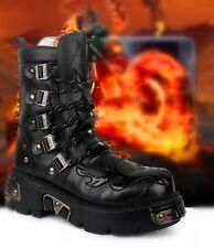 COOL--2014 TOP PUNK Rock-Men boy Fashion Army Motorcycle COOL Boot # PU Leather