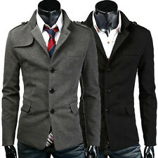 LA FAST CHEAP Mens Warm Slim Fit Coats Jacket Trench Long Sleeve Outwear Top New