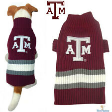NCAA Pet Fan Gear TEXAS A&M AGGIES Dog Sweater Coat for Dogs Puppy Puppies
