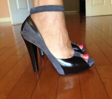 CASADEI Peep Toe Leather Pumps Heels 8