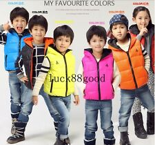 2014 new baby boys and girls down jacket vest Hooded Children coat