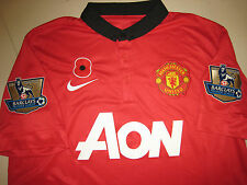 Manchester United 2013-14 EPL Poppy Remembrance (v Arsenal) Home Replica Shirt