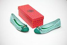 NEW Tory Burch Carlyle Flats in Mint Green Many Sizes