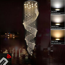 Modern Chandelier Crystal Light Ceiling Villa Stairs Lighting Fixtures 110-240V