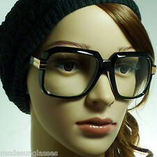 80s Rapper Square DJ Nerd Gazelle Run Dmc Frame Clear Lens Eye Glasses 5 Styles