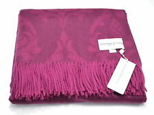 JOHNSTONS OF ELGIN Damask 100% Cashmere Throw Blanket - Made in Scotland