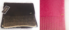 Juicy Couture Angora Blend Scarf Pink and Black NWT $148